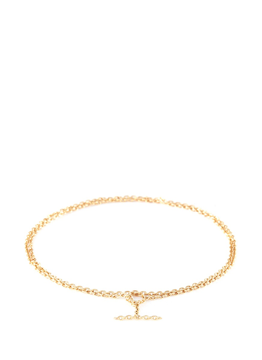 Chain 18k yellow gold toggle chain bracelet by Shihara