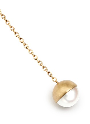 Detail View - Click To Enlarge - Shihara - 'Half Pearl 0°' akoya pearl 18k yellow gold single earring
