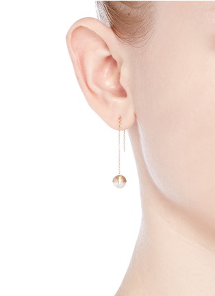 Figure View - Click To Enlarge - Shihara - 'Half Pearl 0°' akoya pearl 18k yellow gold single earring