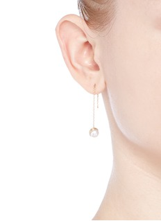 Shihara 'Half Pearl 45°' akoya pearl 18k yellow gold single earring