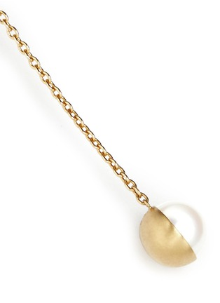 Detail View - Click To Enlarge - Shihara - 'Half Pearl 90°' akoya pearl 18k yellow gold single earring