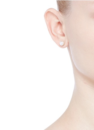 Figure View - Click To Enlarge - Shihara - 'Half Pearl 0°' Akoya pearl 18k yellow gold single stud earring