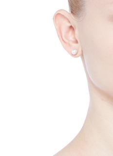 Shihara'Half Pearl 0°' Akoya pearl 18k yellow gold single stud earring