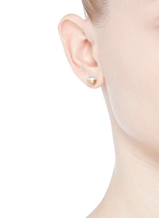 Shihara 'Half Pearl 90°' Akoya pearl 18k yellow gold stud single earring