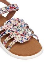 Tiny Huarache paint splatter print toddler slingback sandals