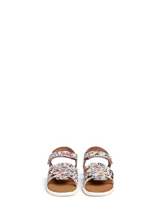 Figure View - Click To Enlarge -  - Tiny Huarache paint splatter print toddler slingback sandals
