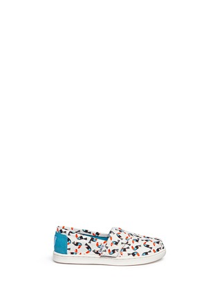 Main View - Click To Enlarge -  - Tiny Classic toucan print canvas toddler slip-ons