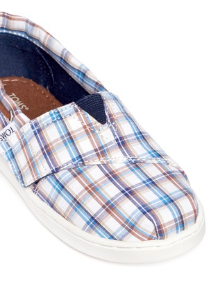 Detail View - Click To Enlarge -  - Tiny Bimini woven plaid toddler slip-ons