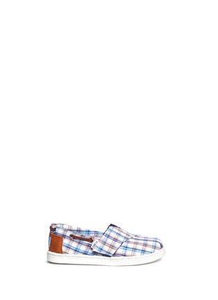 Main View - Click To Enlarge -  - Tiny Bimini woven plaid toddler slip-ons