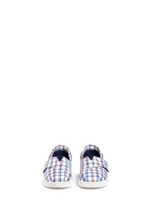 TOMS-Tiny Bimini woven plaid toddler slip-ons