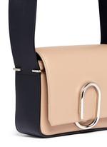 'Alix' mini paperclip flap leather shoulder bag