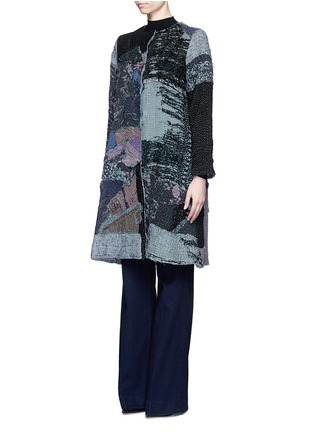 Front View - Click To Enlarge - By Walid - 'Gigi' patchwork brocade one of a kind coat