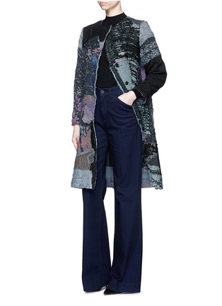 Figure View - Click To Enlarge - By Walid - 'Gigi' patchwork brocade one of a kind coat