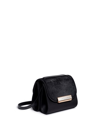 Front View - Click To Enlarge - Hillier Bartley - 'Shoulder' ponyhair leather bag