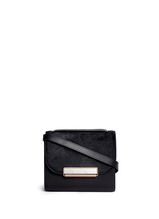 Main View - Click To Enlarge - Hillier Bartley - 'Shoulder' ponyhair leather bag