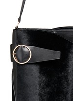 'Cigar' ponyhair leather tote