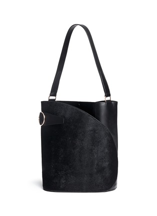 Back View - Click To Enlarge - Hillier Bartley - 'Cigar' ponyhair leather tote