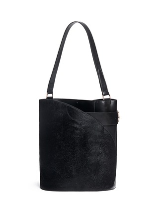 Main View - Click To Enlarge - Hillier Bartley - 'Cigar' ponyhair leather tote