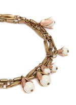 三重立体花卉吊饰手链
