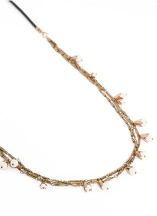 细节 - 点击放大 - ISABEL MARANT  - 三重花卉吊坠项链