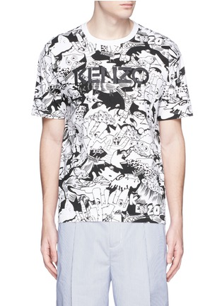 KENZO-Cartoon desert print T-shirt