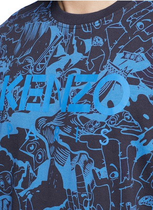 Detail View - Click To Enlarge - KENZO - 'Cartoon' print T-shirt
