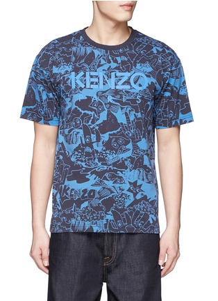 Main View - Click To Enlarge - KENZO - 'Cartoon' print T-shirt