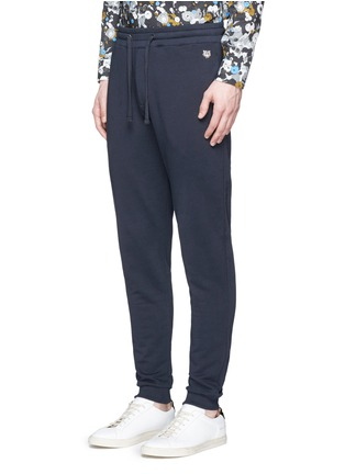 Front View - Click To Enlarge - KENZO - Tiger logo plate sweatpants