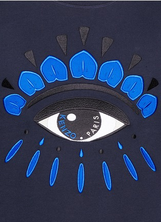 Detail View - Click To Enlarge - KENZO - Big eye appliqué sweatshirt
