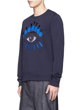 Front View - Click To Enlarge - KENZO - Big eye appliqué sweatshirt