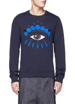 Big eye appliqué sweatshirt
