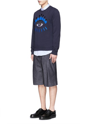 Figure View - Click To Enlarge - KENZO - Big eye appliqué sweatshirt