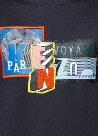 Detail View - Click To Enlarge - KENZO - Mix badge print sweatshirt