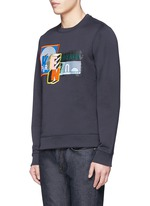 Mix badge print sweatshirt