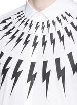 Thunderbolt print poplin shirt