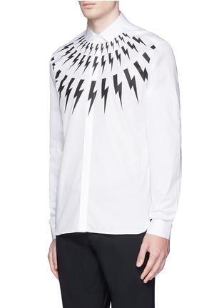 正面 -点击放大 - NEIL BARRETT - 闪电图案纯棉衬衫