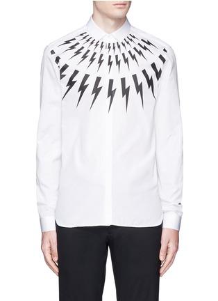 首图 - 点击放大 - NEIL BARRETT - 闪电图案纯棉衬衫