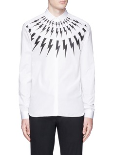 Neil BarrettThunderbolt print poplin shirt