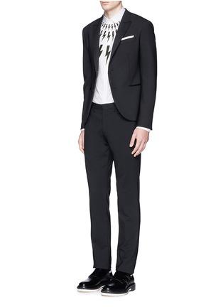 模特儿示范图 - 点击放大 - NEIL BARRETT - 闪电图案纯棉衬衫