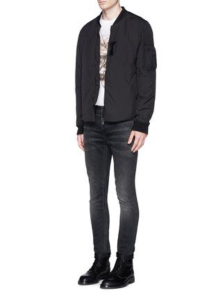 模特儿示范图 - 点击放大 - NEIL BARRETT - 雕塑图案纯棉T恤