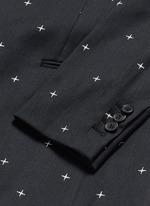 Star jacquard skinny fit blazer