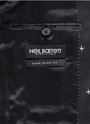 - NEIL BARRETT - 十字星提花混羊毛西服外套