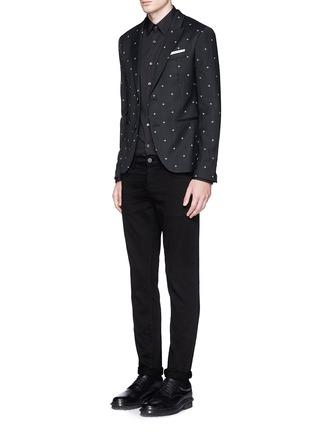 模特儿示范图 - 点击放大 - NEIL BARRETT - 十字星提花混羊毛西服外套