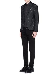 NEIL BARRETTStar jacquard skinny fit blazer