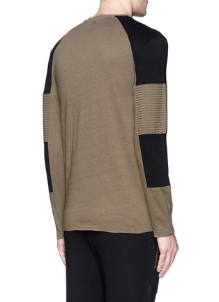 Back View - Click To Enlarge - Neil Barrett - Quilted panel long sleeve T-shirt