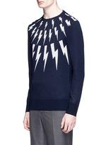 Thunderbolt intarsia Merino wool sweater
