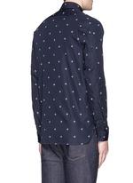 Star print poplin shirt