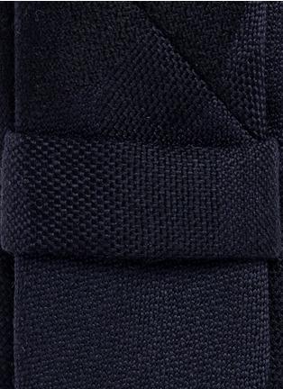 细节 - 点击放大 - NEIL BARRETT - 暗迷彩印花羊毛领带