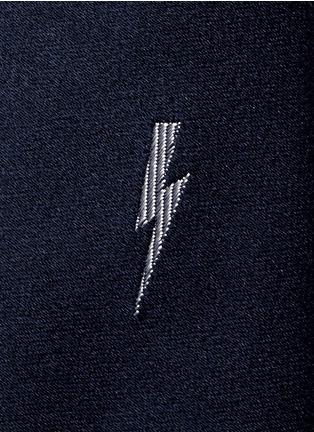 细节 - 点击放大 - NEIL BARRETT - 闪电图案真丝领带