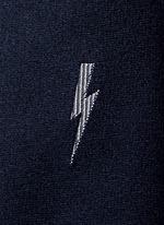 Single thunderbolt slim silk tie